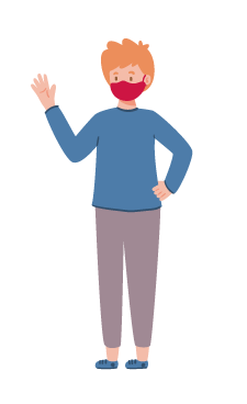 illustration of a man in a mask