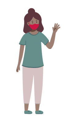 illustration of a woman in a mask