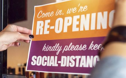 follow social distancing when reopening