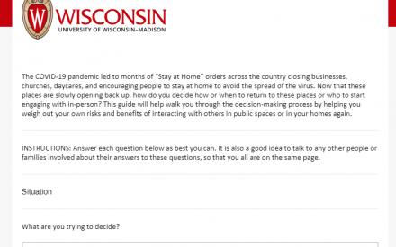 Interactive Decision Guide Screenshot